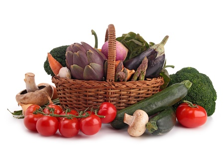 collection of raw vegetables photo