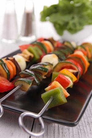 picks: vegetables kebab Stock Photo