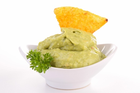 corn tortillas chips and guacamole