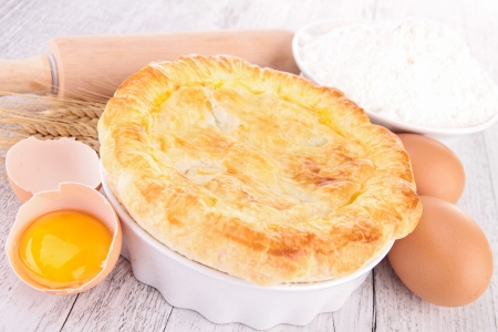egg, flour and chicken pot pie photo