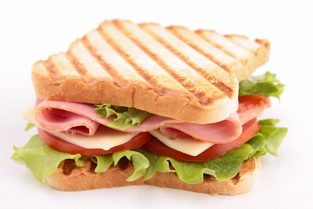 toasted: sandwich