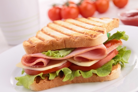 jamon y queso: sandwich