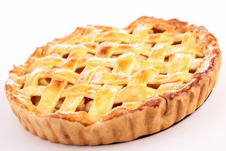apple tart: cooked apple pie