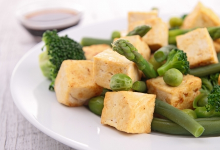 fried tofu and vegetables Stock Photo - 18991391