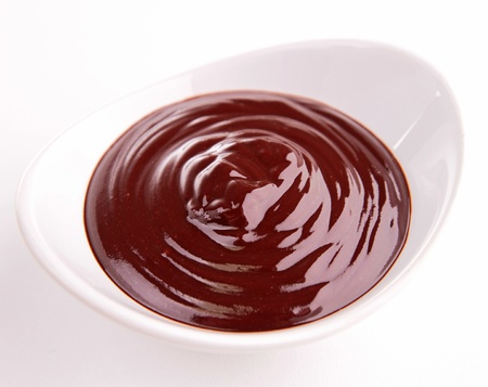 bowl of chocolate sauce photo