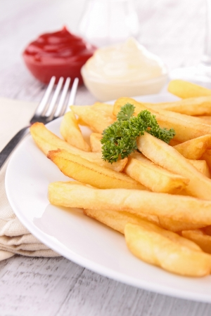 plate of french fries photo