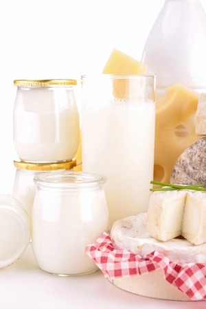 dairy products: isolated dairy products