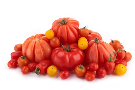 different variety of tomatoes Stock Photo - 19166215