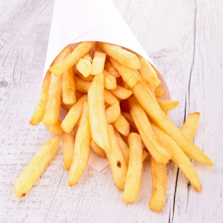 deep fry: french fries  Stock Photo