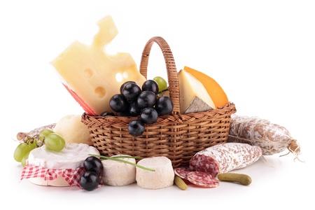 チーズとソーセージの組成 写真素材 - 19373270
