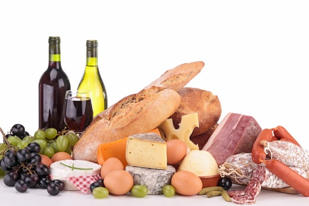 composition of groceries Stock Photo - 19373272
