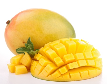 mango fruta: aislado mango fresco