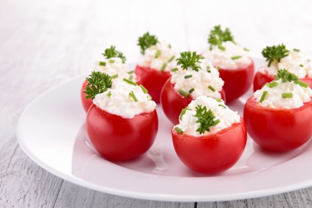 cherry tomato with cheese photo