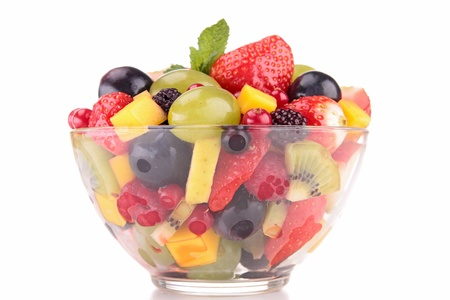 mango fruta: ensalada de frutas aislado