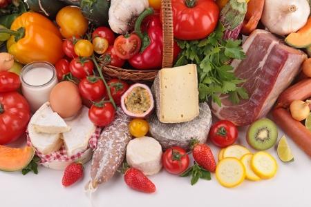 nutrici�n: composici�n de comestibles Foto de archivo
