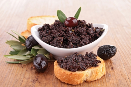 olive green: tapenade