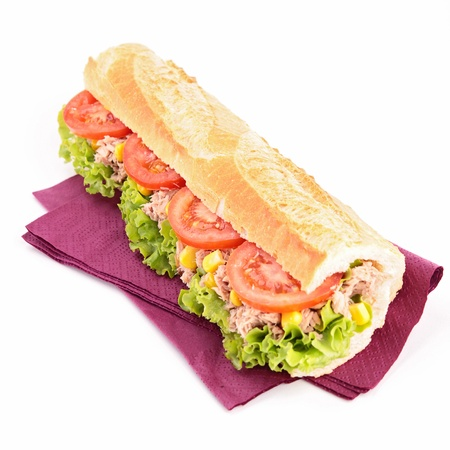 baguette: isolated sandwich