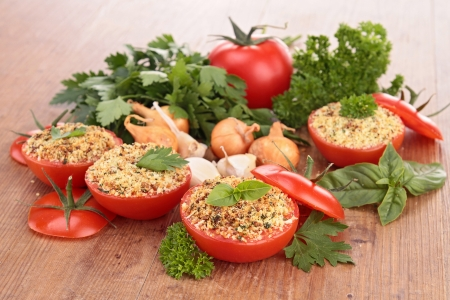 provencal: provencal tomato and ingredients