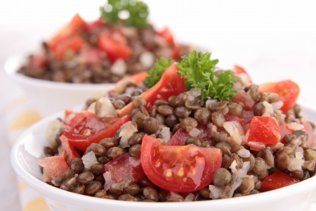 lentilha: salada de lentilha