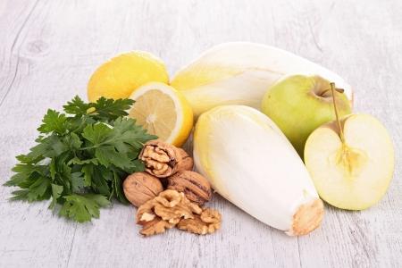 endive: endive, parsley,walnut and apple