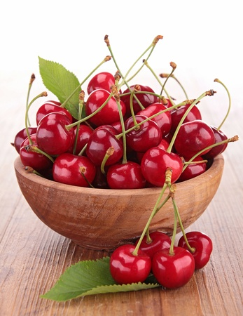 fresh cherries photo