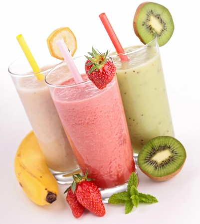 Strawberry smoothie: assortimento di frullati