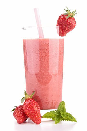 milk shake: strawberry smoothie