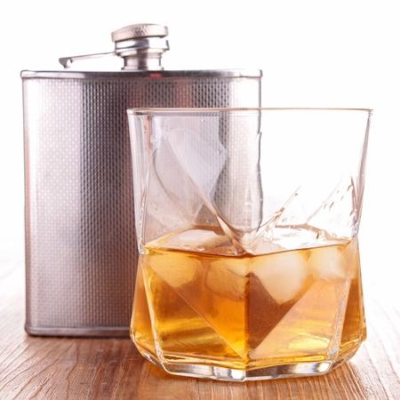 BARWARE: whisky and cigar Stock Photo