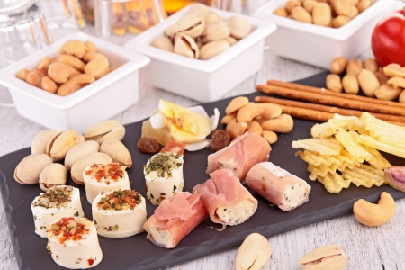 food buffet: assortment of appetizers