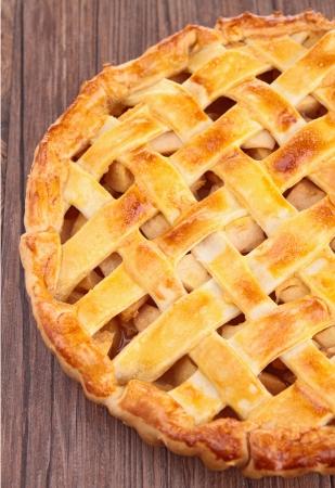 tarta de manzana: pastel de manzana Foto de archivo