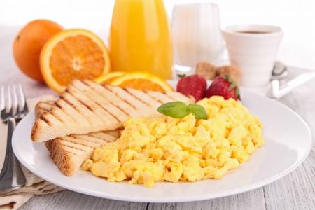 fried egg and toast Zdjęcie Seryjne