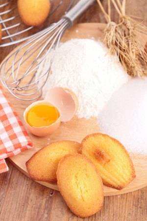 madeleine: madeleine with ingredients