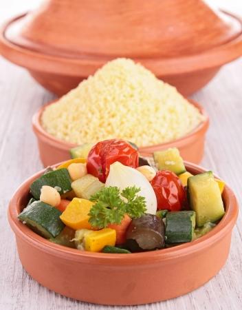 vegetable and semolina photo