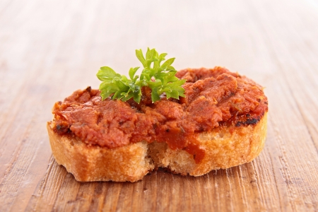bread with tapenade Stock Photo