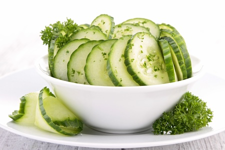 crudite: cucumber salad
