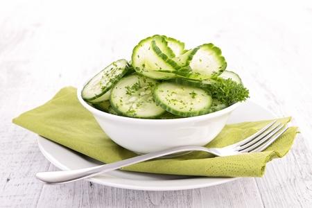 crudite: cucumber salad
