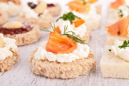 assortment of appetizer Stock Photo