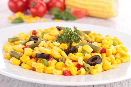 mais: vegetarian salad Stock Photo
