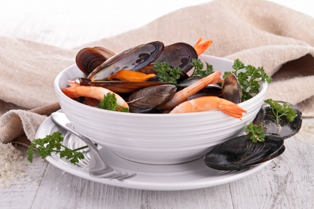 crustacean: bowl of crustacean soup