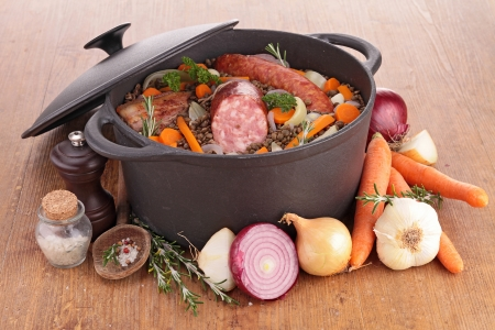 legume: legume and meat Stock Photo