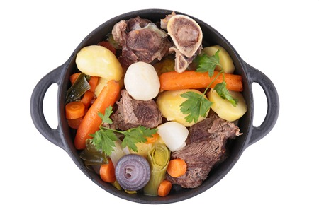 Goulash: beef stew and vegetables