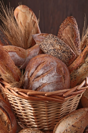 assortment of bread, baking products photo
