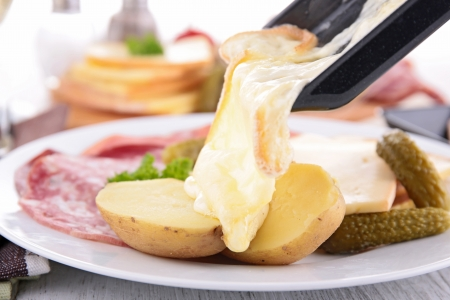 raclette, fondue Stock Photo