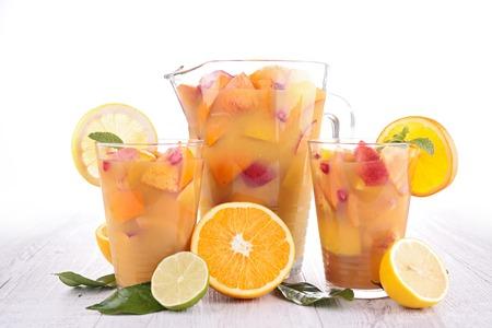 jugo de frutas: jugo de frutas, c�ctel Foto de archivo