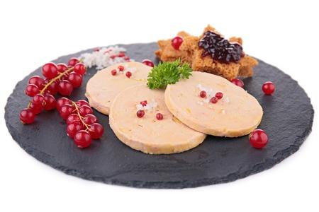 foie gras: slice of foie gras