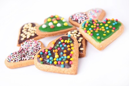 heart shape cookies photo
