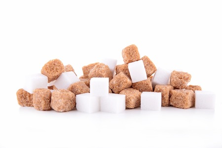 brown and white sugar isolated photo