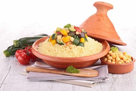 couscous: couscous with vegetables Stock Photo