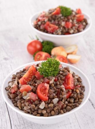 lenteja: ensalada de lentejas