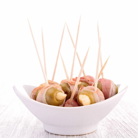 fingerfood: olive and bacon, fingerfood